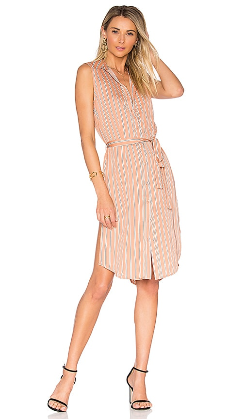 L'Academie The Sleeveless Midi Dress in Pink