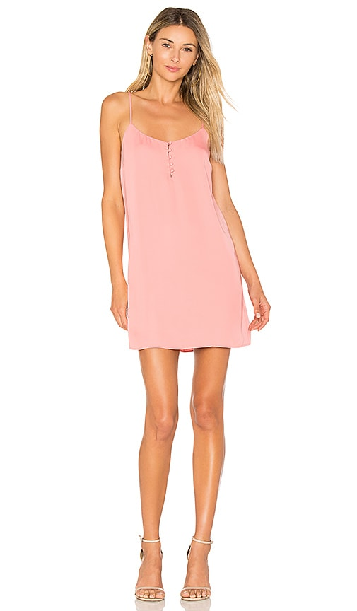 L'Academie The Mini Slip Dress in Pink