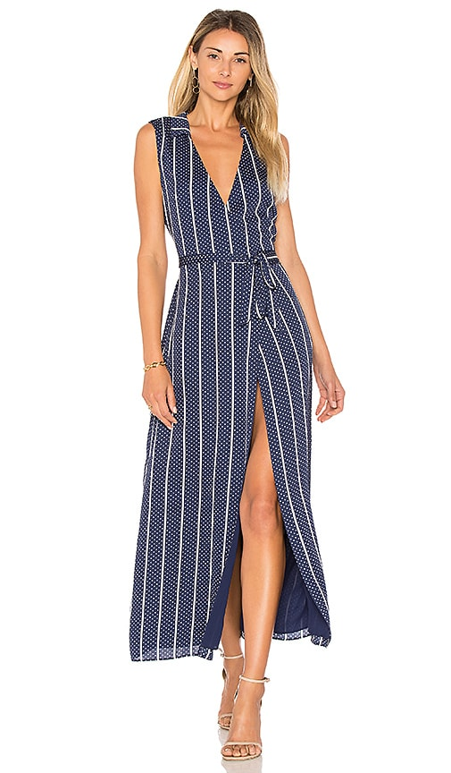 L'Academie The Wrap Dress in Navy