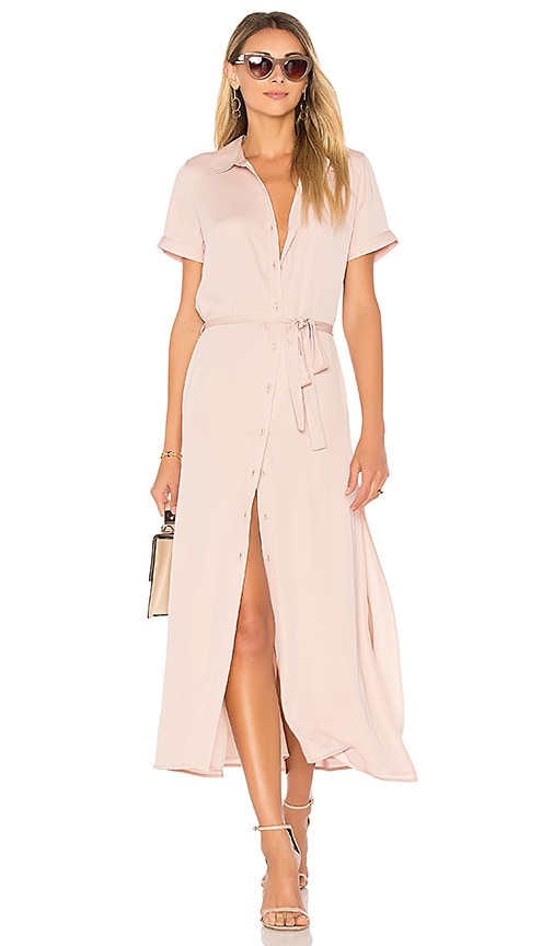 L'Academie The Shirt Dress in Blush
