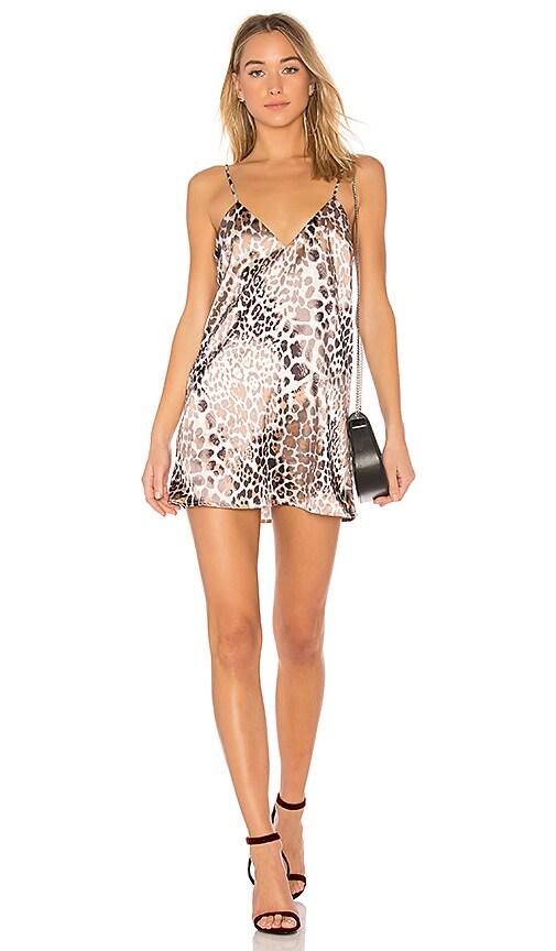 L'Academie x REVOLVE The Bengal Slip Dress in Brown