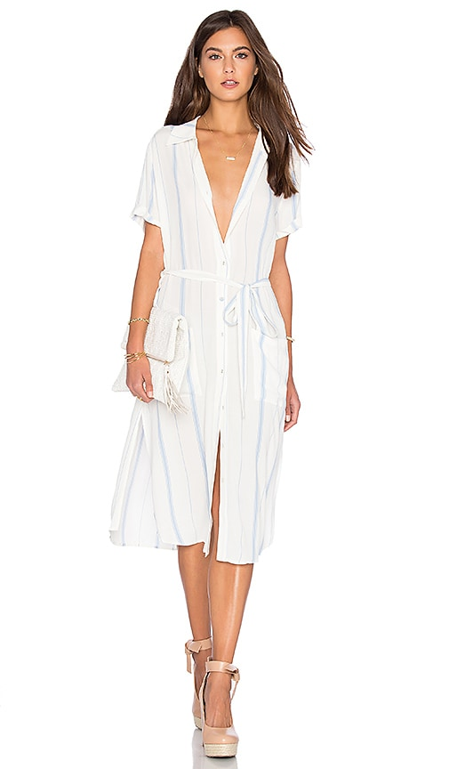 L'Academie x REVOLVE The Shirt Dress in White