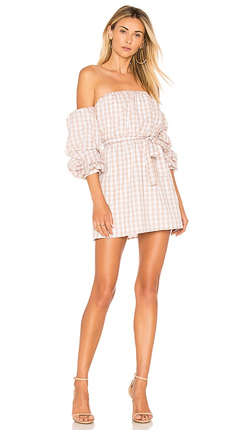 L'Academie The Puff Sleeve Dress in Cream