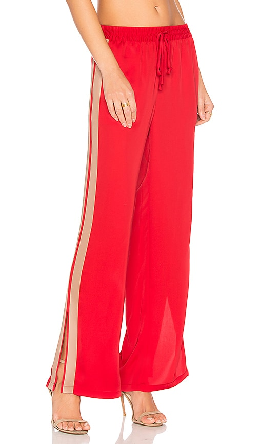 L'Academie x REVOLVE The Track Pant in Red