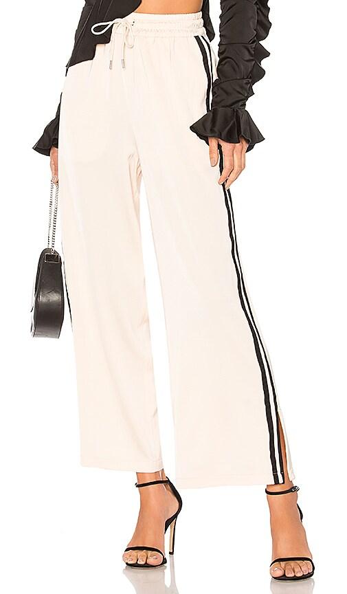 Pajama Split Track Pant in Ivory. - size M (also in L,S,XS,XXS) L'Academie
