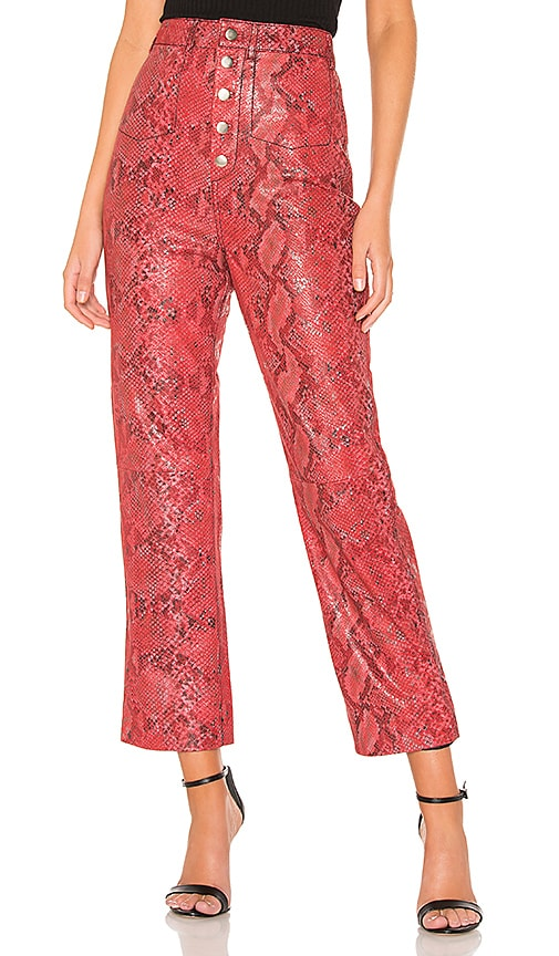 The Serpent Leather Pant