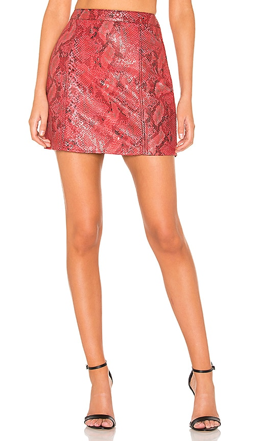 The Serpent Leather Skirt