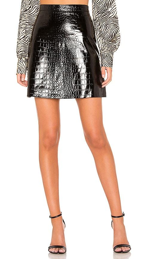 Cassandra Patent Croc Mini Skirt