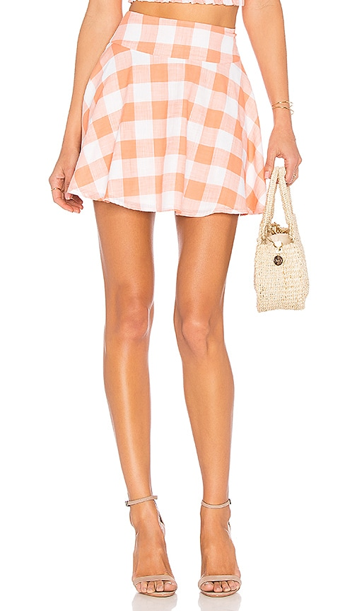 L'Academie The Circle Skirt in Orange