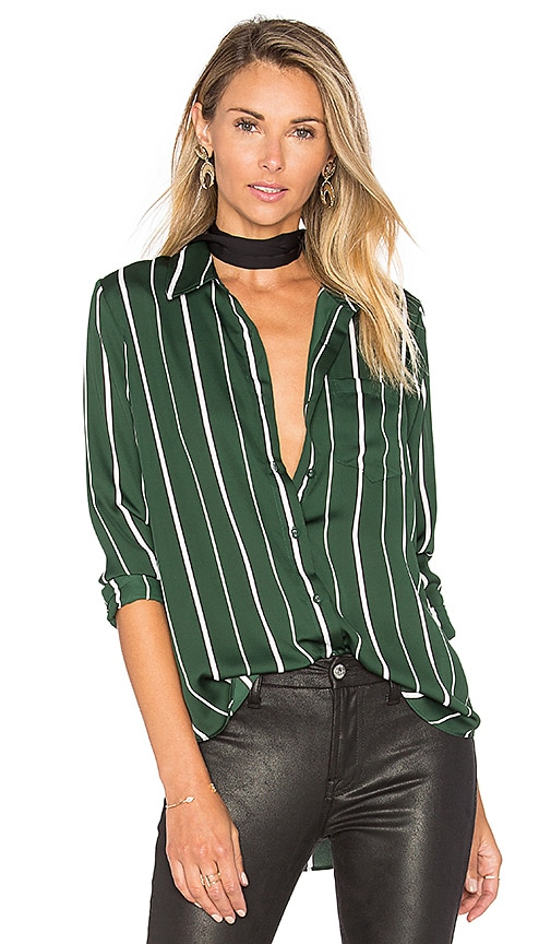 L'Academie The Classic Blouse in Green