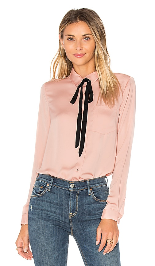 L'Academie x REVOLVE The Classic Blouse in Blush