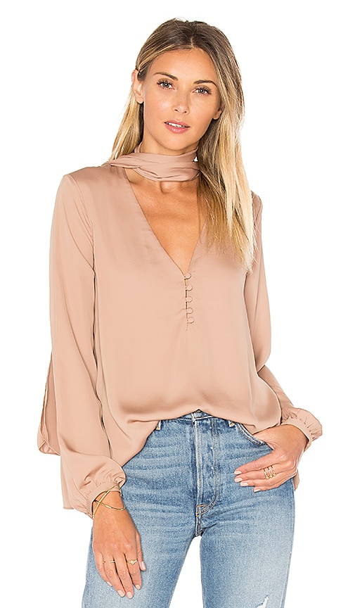 L'Academie The 70's Blouse in Tan