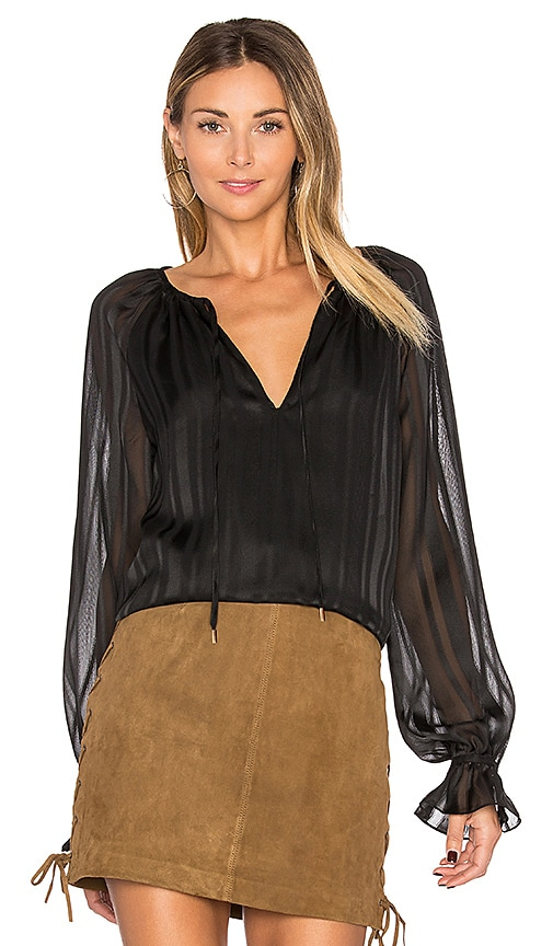 L'Academie The Boho Top in Black