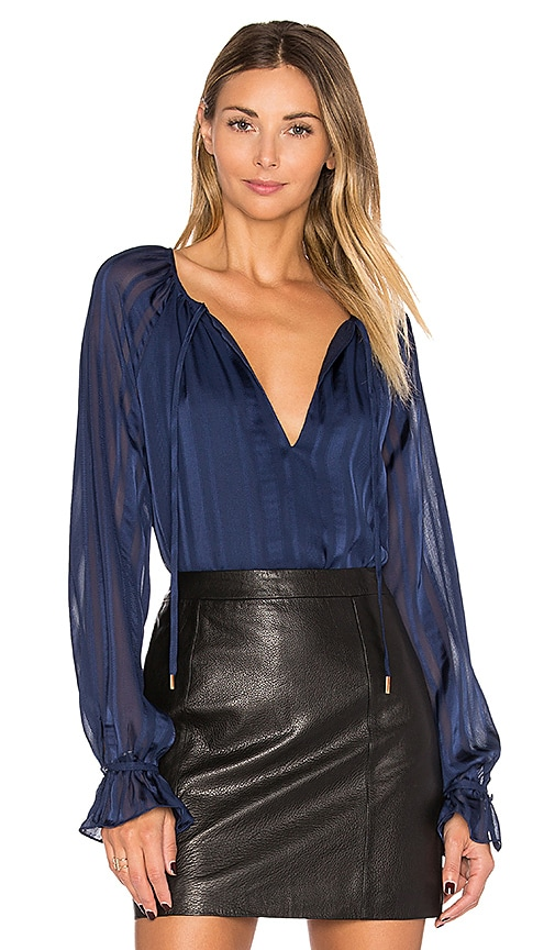 L'Academie The Boho Top in Navy