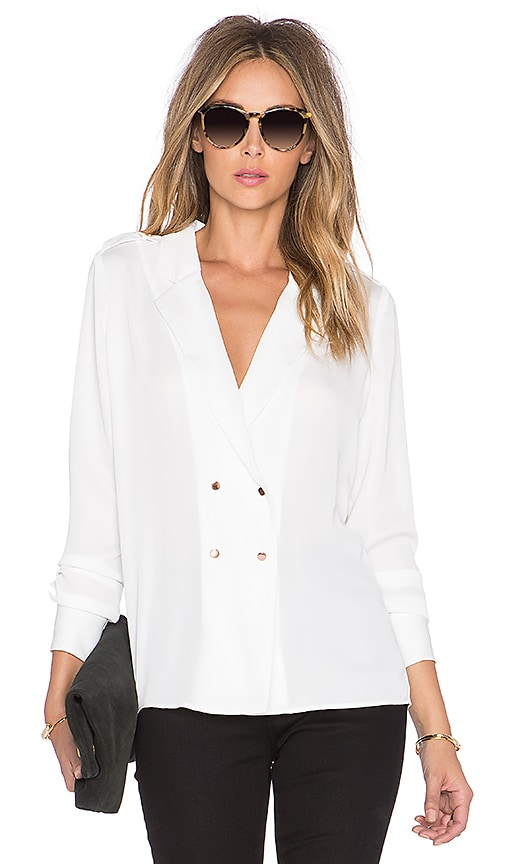 L'Academie The Military Blouse in White