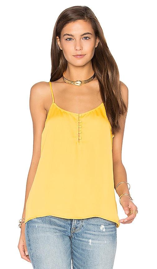 L'Academie The Button Cami in Yellow