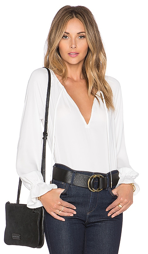 L'Academie The Boho Blouse in Ivory