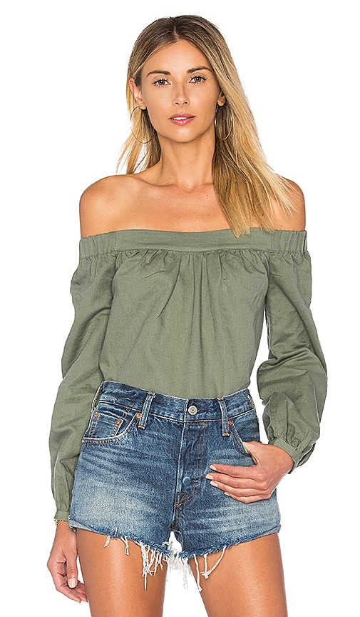 L'Academie The Romantic Top in Olive