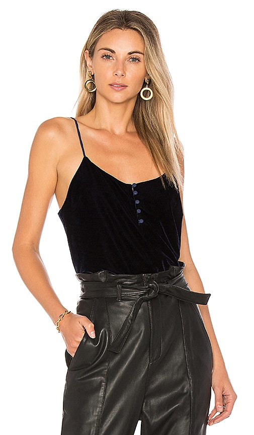 L'Academie The Button Cami in Navy