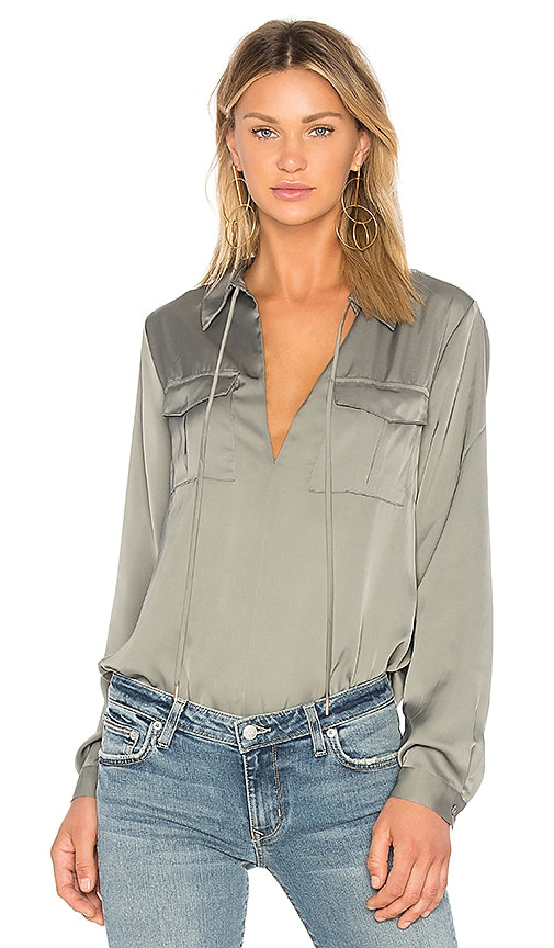 L'Academie The Atwood Blouse in Olive