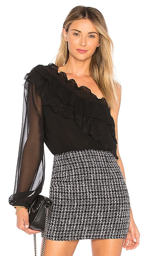 L'Academie The Remi Blouse in Black