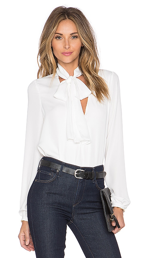 L'Academie The 70's Blouse in White
