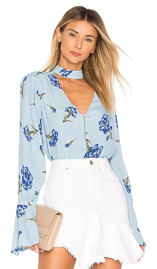 L'Academie The Anette Blouse in Blue
