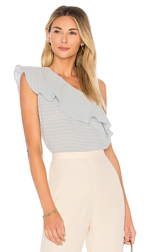 L'Academie The Cecile Top in Light Gray