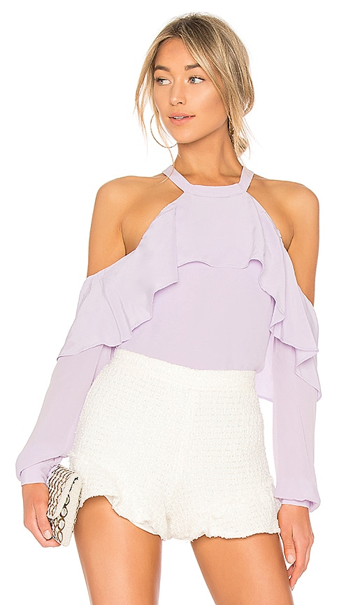 L'Academie The Helena Blouse in Lavender