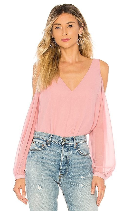 The V Neck Shoulder Top by L'academie