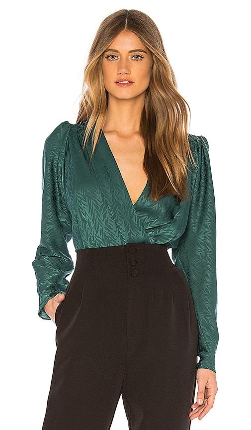 20690b41c6b3 L Academie The Victoire Bodysuit in Emerald