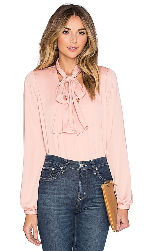 L Academie The 70 s Blouse in Blush  3d87bf1205387