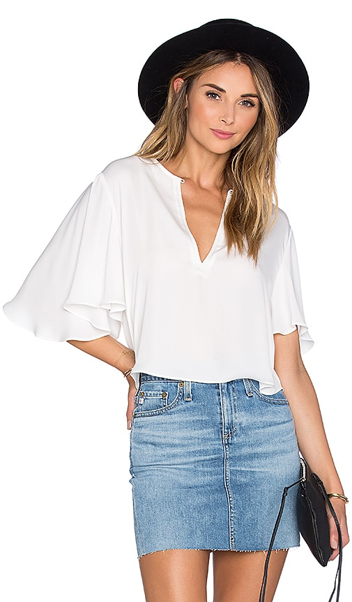 L'Academie The Billowy Blouse in White