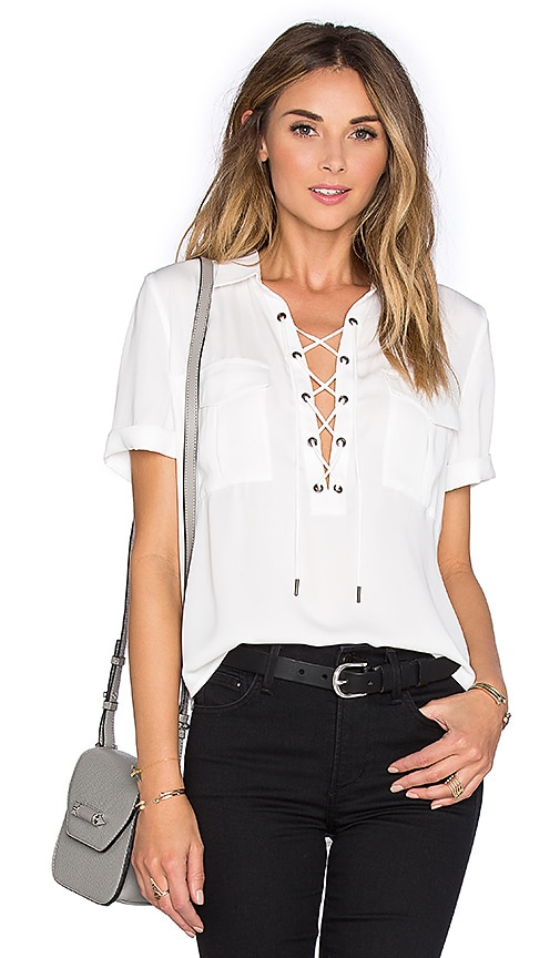 L'Academie The Safari Blouse in White