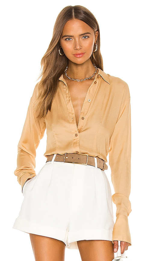 The Bastina Top by L'Academie, available on revolve.com for $158 Bella Hadid Top Exact Product