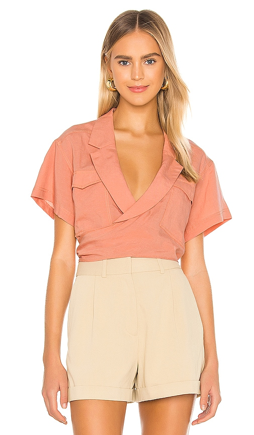 The Arnaude Top by L'Academie, available on revolve.com for $168 Bella Hadid Top SIMILAR PRODUCT