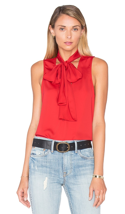 L'Academie The 70's Tank Blouse in Red