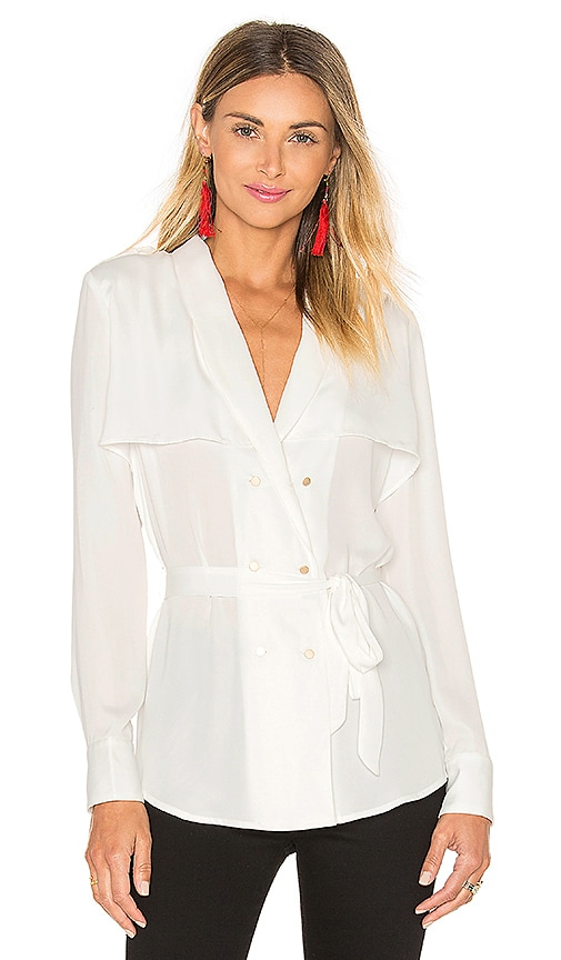L'Academie The Trench Blouse in Ivory