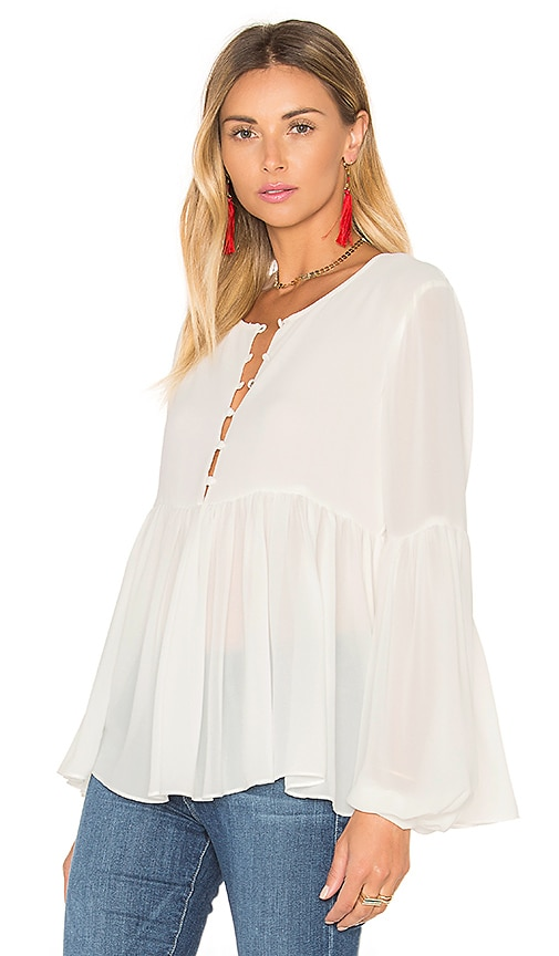 L'Academie The Femme Blouse in Ivory