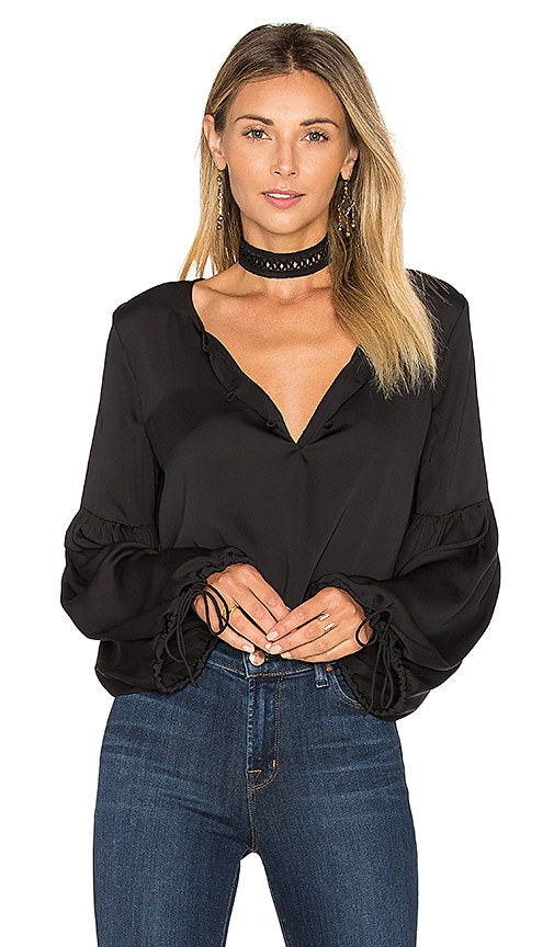 L'Academie The Airy Blouse in Black