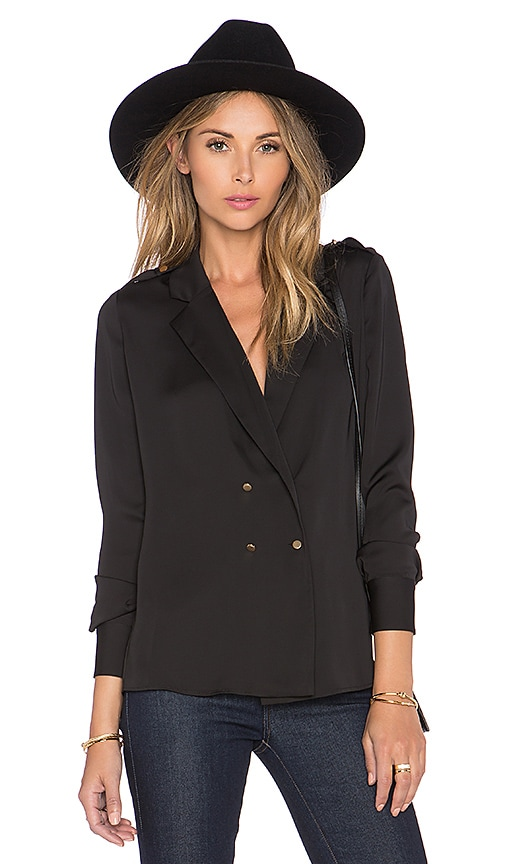 L'Academie The Military Blouse in Black
