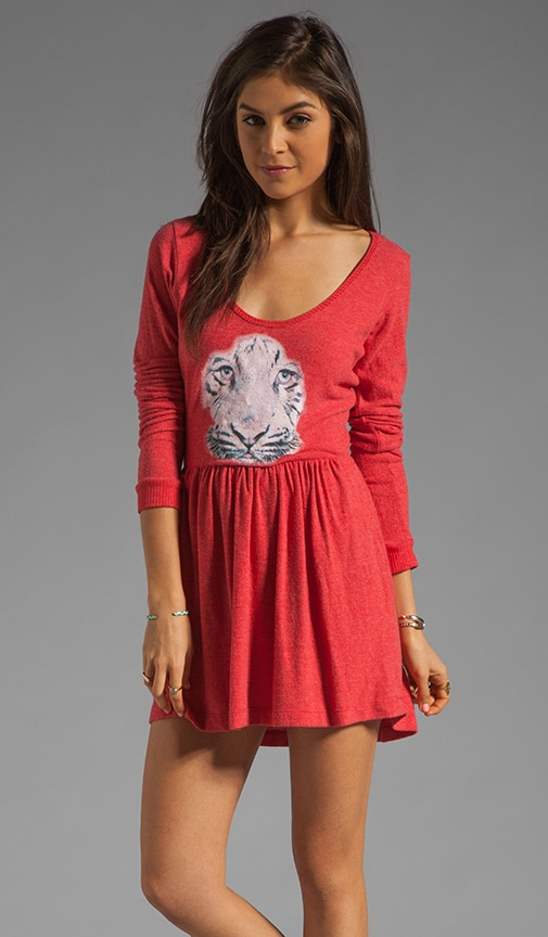 Tiga Face Dress is Red