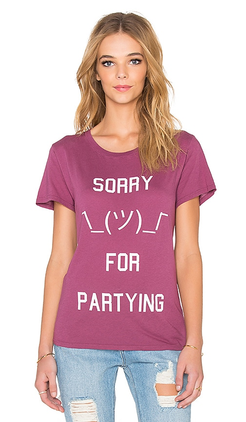 Local Celebrity Sorry For Partying Schiffer Tee in Cabernet