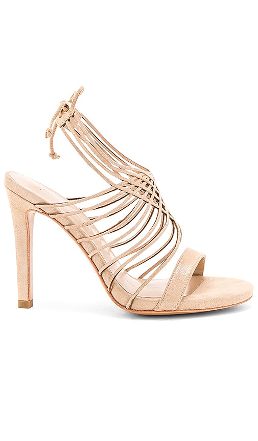 Lola Cruz Strappy Heel in Metallic Gold