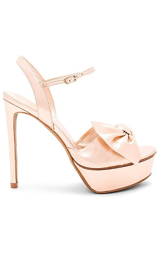 Lola Cruz Bow Platform Heel in Pink