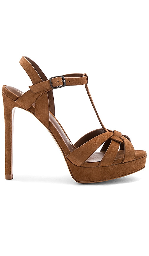 Lola Cruz Slingback Heel in Brown