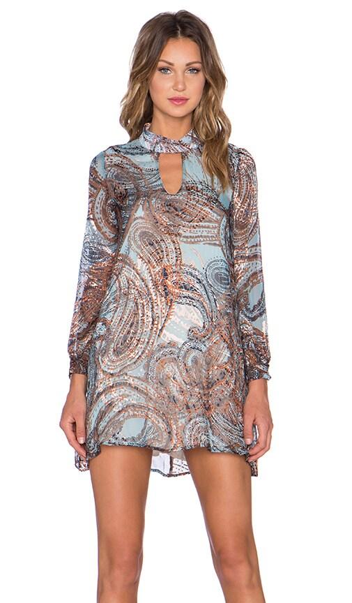 Burnout Paisley Mini Dress