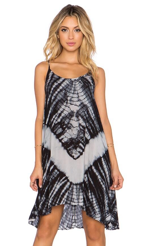 The LDRS Tie Dye Dress in Black & White