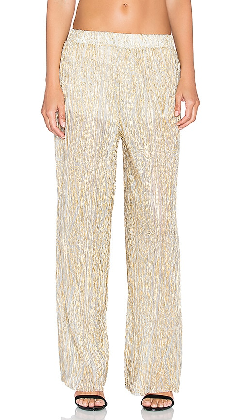 The LDRS Wide Leg Pant in Gold