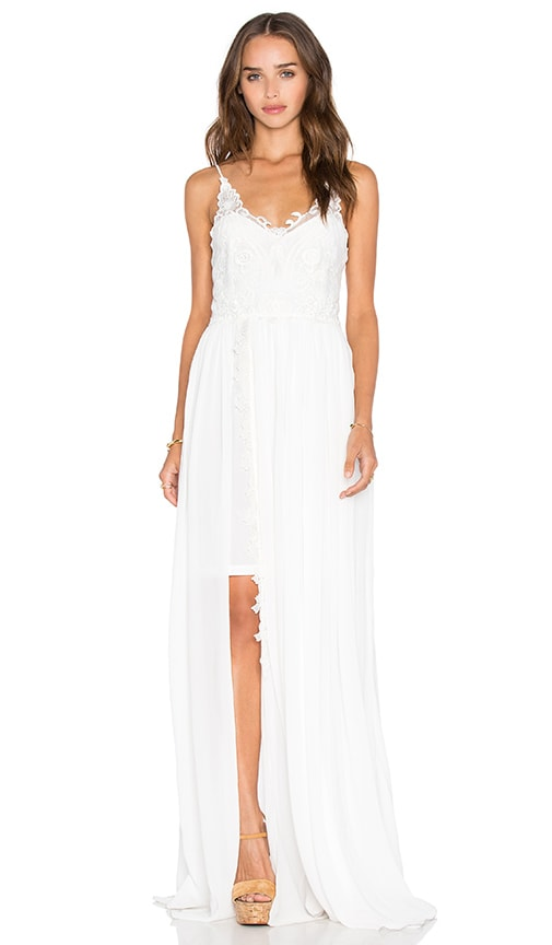 Line & Dot Azure Maxi Dress in White